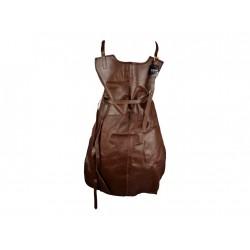 Skinnförkläde äkta läder brunt