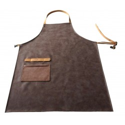 Skinnförkläde imitation Brun konstgjort läder