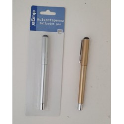Penna Kulspets silver / guld 2-pack